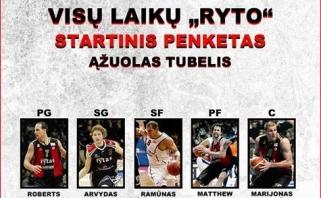 """""""Ryto"""" talentas Ą.Tubelis pasirinko nestandartinį Vilniaus komandos visų laikų penketą"""