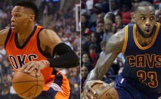 L.Jamesas ir R.Westbrookas - NBA lapkričio mėnesio žaidėjai