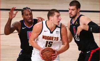 """N.Jokičius gali praleisti trečiąsias serijos su """"Clippers"""" rungtynes"""