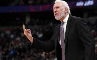 """NBA klubo vadovas: """"Spurs"""" vietoje pirmiausia atleisčiau Popovichių"""