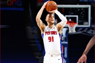 """Sirvydis gavo daugiausia minučių NBA karjeroje, o """"Pistons"""" iškovojo retą pergalę (rezultatai)"""