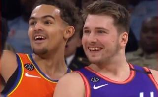"""NBA """"Visų žvaigždžių"""" savaitgalio starte JAV talentai iškaršė kailį Pasaulio rinktinei"""