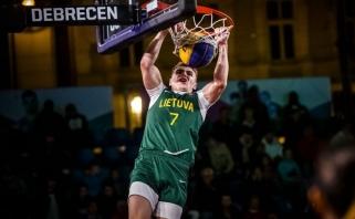 FIBA 3x3 pasaulio jaunių čempionato ketvirtfinalyje nusileista amerikiečiams