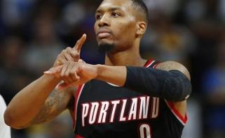 """NBA: """"Blazers"""" dūris paskutinę sekundę, """"Spurs"""" žygis ir """"Cavs"""" apsnūdimas"""