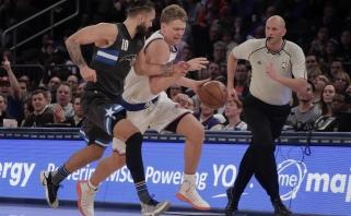 """M.Kuzminskas sužaidė geriausią mačą gruodį, """"Knicks"""" nesunkiai įveikė """"Magic"""""""