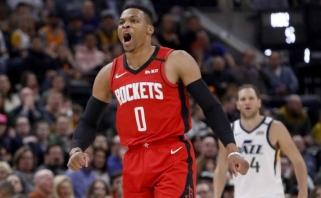 """Įspūdinga J.Hardeno ir R.Westbrooko ataka """"žemė-oras"""" - NBA Top 10 viršūnėje"""