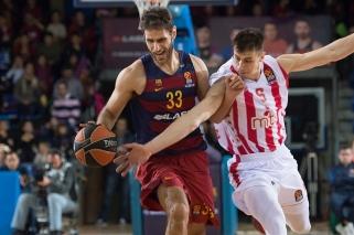 """""""Barca"""" namie įveikė tragiškai pataikiusius """"Crvena Zvezda"""" krepšininkus"""