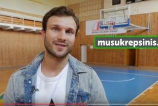 """V.Baumila: """"Be krepšinio nebūčiau tuo, kas esu"""" (projekto pristatymas)"""
