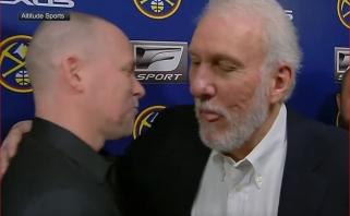 G.Popovichius įsiterpė į interviu su varžovų treneriu po mačo, iš kurio jis buvo išvytas