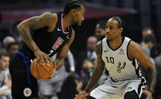 """K.Leonardas nubaudė savo buvusią komandą - """"Spurs"""" patyrė pirmą nesėkmę"""