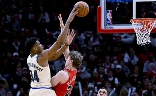 NBA naktis: Antetokounmpo sugrįžimas Čikagoje ir atsarginių žvaigždžių valanda Vašingtone