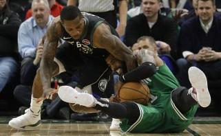 """Prie istorinio pasiekimo artėjantys """"Bucks"""" vienu tašku palaužė """"Celtics"""" (rezultatai)"""