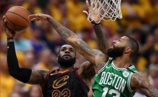"""Nesustabdomas L.Jamesas padėjo """"Cavaliers"""" išlyginti serijos rezultatą"""
