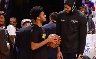 """""""Lakers"""" įžaidėjas Q.Cookas: žmonės neįvertina, kokį kelią Davisui teko nueiti"""
