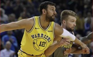 """D.Sabonis puikiai rinko kamuolius, tačiau """"Pacers"""" nė iš tolo neprilygo """"Warriors"""""""