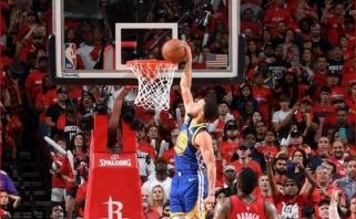 """Aukščiausios įtampos trileryje """"Rockets"""" pergalę nulėmė gėdinga ir nesuvokiama Curry klaida"""