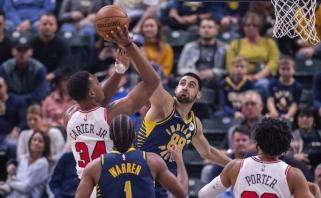 """Traumuotas D.Sabonis nežaidė, bet """"Pacers"""" rado rezervų ir įgijo dar daugiau pasitikėjimo"""