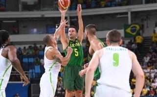 Lietuvos rinktinė atlaikė brazilų šturmą ir olimpiadą pradėjo pergale