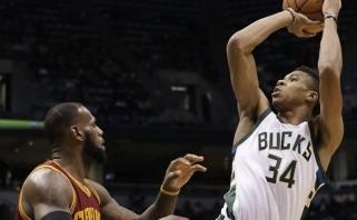 """NBA naktis: G.Antetokounmpo nuskriaudė """"Cavaliers"""", """"Clippers"""" krito po dviejų pratęsimų"""
