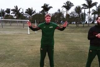 Lietuvos rinktinė – jau Brazilijoje: surengė treniruotę futbolo stadione