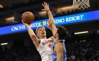 """M.Kuzminskas puikiai išnaudojo jam skirtus """"trupinius"""", """"Knicks"""" laimėjo"""