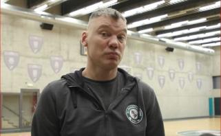 """Apie rinktinę su Maskoliūnu kalbėjęsis Jasikevičius abejoja, ar prieš """"Barceloną"""" galės žaisti Grigonis"""