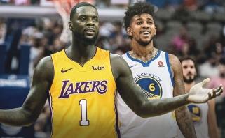 """""""Lakers"""" įveikė čempionus, paskutiniame ikisezoniniame mače neapsieita be incidento"""