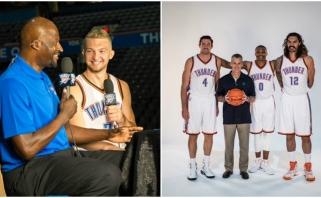 """Oklahomoje """"tėvą"""" radęs D.Sabonis NBA vilkės netradicinį marškinėlių numerį"""