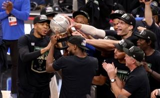 """Giannio paslaugų neprireikė: """"Bucks"""" įveikė """"Hawks"""" ir žengė į NBA finalą"""