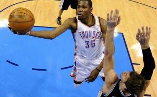 """K. Duranto vedamas """"Thunder"""" išlygino NBA Vakarų konferencijos pusfinalio serijos rezultatą"""