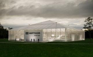 """Paaiškėjo, kaip atrodys 1,5 tūkst. aistruolių talpinanti """"Hoptrans"""" lauko arena"""