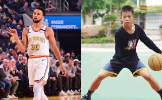 Vienarankis Kinijos paauglys demonstruoja neįtikėtinus kamuolio valdymo įgūdžius