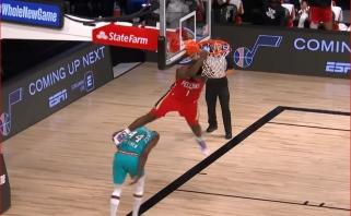 """L.Jameso blokas ir monstriškas Z.Williamsono dėjimas - NBA """"Top 10"""" viršūnėje"""