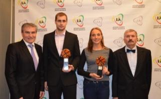 Naudingiausi 2015 metų LSKL žaidėjai - Kristė Druskytė ir Karolis Brusokas