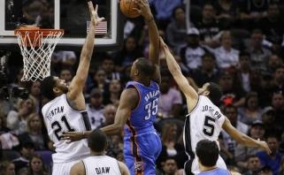 """""""Spurs"""" vis dar nusitaikę į K.Durantą"""