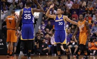 NBA: K.Duranto ir S.Curry taškų šou bei dramatiškas Teksaso derbis