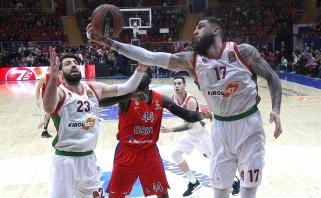 Baskai įveikė CSKA ir išlygino ketvirtfinalio serijos rezultatą (video)