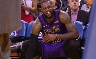 """Čempionus jų pačių tvirtovėje sutriuškinę """"Lakers"""" neteko LeBrono (rezultatai)"""