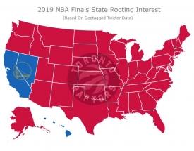 "47-iose iš 50-ies valstijų finale palaikys ""Raptors"""