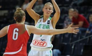 Lietuvės Europos čempionate startavo sunkia pergale prieš ukrainietes