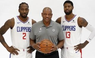 """""""Clippers"""" treneris: K.Leonardas ir P.George'as kartu nežaidė nė vienoje treniruotėje"""