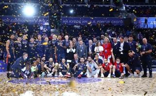 """Rezultatyvus Grigonis su CSKA iškovojo pirmą trofėjų, """"Zenit"""" prarado pagrindinį įžaidėją"""