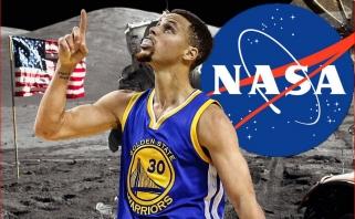 NASA pakvietė S.Curry į laboratoriją, kad įsitikintų amerikiečių apsilankymu mėnulyje