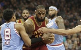 """NBA naktis: nesėkmių ruožą nutraukė """"Cavaliers"""", """"Jazz"""" nepasigailėjo svečių"""