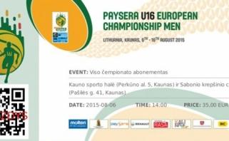 Prasideda prekyba bilietais į Europos šešiolikmečių krepšinio čempionatą