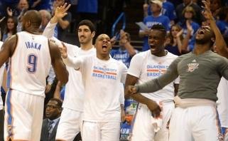 """""""Thunder"""" eliminavo """"Spurs"""" ir keliauja į NBA Vakarų konferencijos finalą"""
