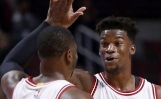 """Puikiai žaidęs D.Wade'as padėjo """"Bulls"""" revanšuotis """"Pacers"""" (rezultatai)"""