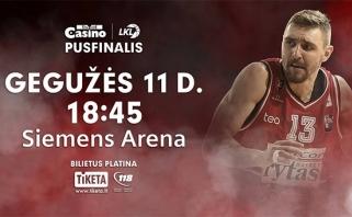 """LKL pusfinalio rungtynės - """"Siemens"""" arenoje"""