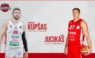 """M.Kupšas ir J.Jucikas sudarys """"Juventus"""" centrų grandį"""