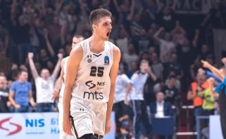 """""""Partizan"""" tolimu metimu išlygino Serbijos finalo seriją (metimo video)"""